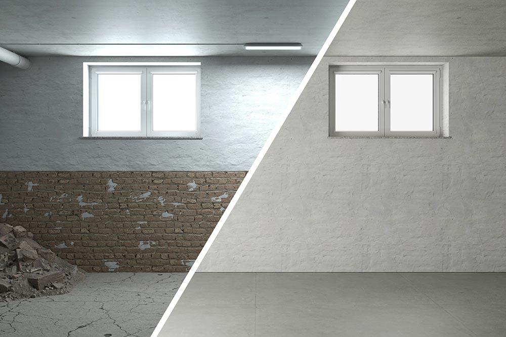 Knackpunkt-Kellerfenster